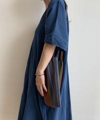 pips / cotton hand woven mini  hammock bag  /  Charcoal gray