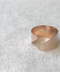 cinq / Diagnal ring / 14k rose gold  filled