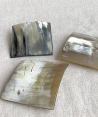 kostkamm / horn hair clip square  / 6cm / 9539