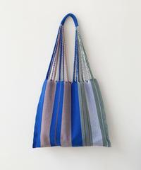 pips / cotton handwoven hammock bag /Blue  asymmetry