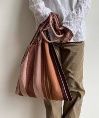 pips / cotton handwoven hammock bag / brown  asymmetry