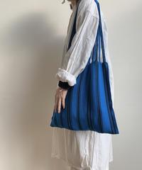 pips / cotton handwoven hammock bag / Blue x Black