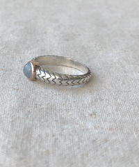 Ishi jewelry  / cobra ring  / aquamarine