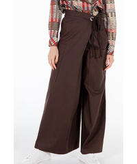 [20SS] COTTON LINEN ASYMMETRY WIDE PANTS