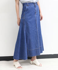 [21SS] DENIM FLARED SKIRT