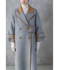 [19AW] BICOLOR DESIGN WOOL COAT