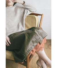 [20AW] FAKE LEATHER WRAP SKIRT