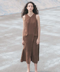 [20SS] LINEN CASHCOURT DESIGN ONE-PIECE
