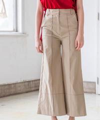 STITCH DESIGN FLARE PANTS