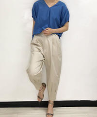 [21SS] SILK COTTON GATHERED BLOUSE