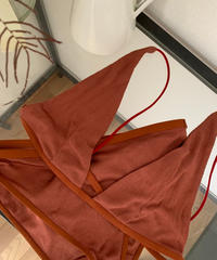 at home collection : SILK RIB BRA TOP