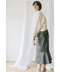 [20AW] LAMB LEATHER MERMAID SKIRT