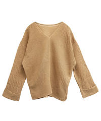[19SS] WASHI MIX KNIT PULLOVER