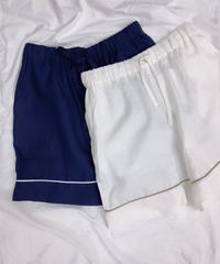 at home collection : FRENCH LINEN RELAX SHORT PANTS