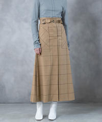 [19AW] WINDOWPANE CHECK SKIRT