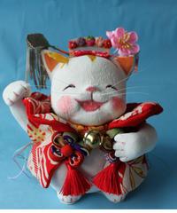 にっこり笑った 招福招き猫