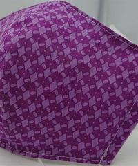 菱形ガーゼマスク(紫)