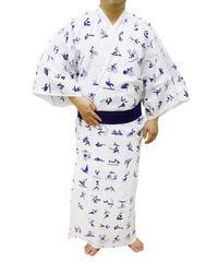 長板中形染め【静岡県】寝巻浴衣 東京2020オリンピックエンブレム