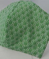 小菊ガーゼマスク(緑)