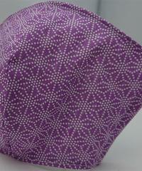 麻の葉ガーゼマスク(紫)