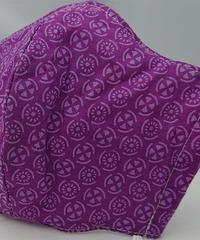 丸紋ガーゼマスク(紫)