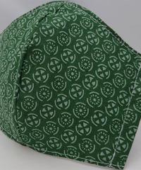 丸紋ガーゼマスク(緑)