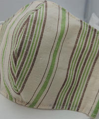 遠州織物ガーゼマスク(縞0150)