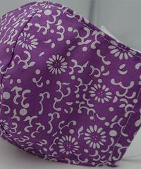 大菊ガーゼマスク(紫)