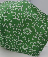 大菊ガーゼマスク(緑)