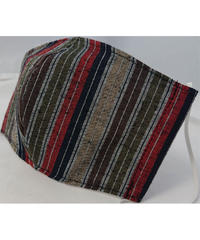 遠州織物ガーゼマスク(縞0014)