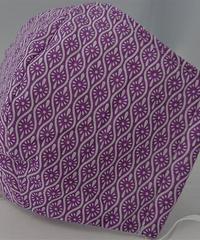 小菊ガーゼマスク(紫)