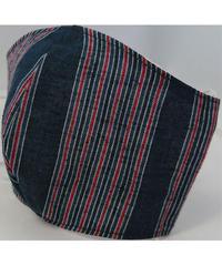 遠州織物ガーゼマスク(縞0007)