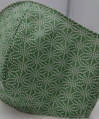 麻の葉ガーゼマスク(緑)