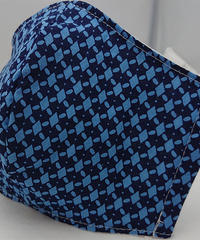 菱形ガーゼマスク(青)