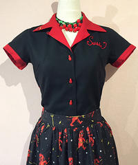 Go Lucky! Ladies Bowling Shirts【SVY-LSH090】