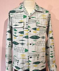 Fish Pattern Open Shirts【SVY-SH272】
