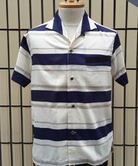 ボーダーイタリアンカラーシャツ【SVY-SH247】