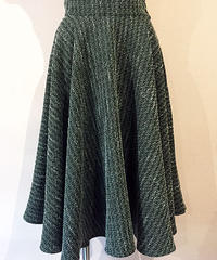 Rame Dobby Long Circular Skirt【SVY-SK050】