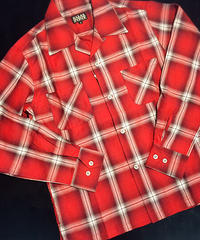 Big Ombrecheck Open Shirts Red【SVY-SH270】