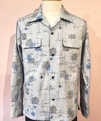 Geometric Kasuri Patern Open Shirts【SVY-SH273】