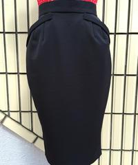 ブラック ペンシルスカート【SVY-SK039】