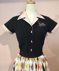 Bettie Retro Ladies Bowling Shirts【SVY-LSH089】