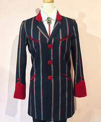 Ladies Edward Jacket (Stripe)【SVY-LJK021】