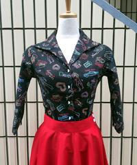 NeonPattern Hem knot blouse【SVY-LSH070】