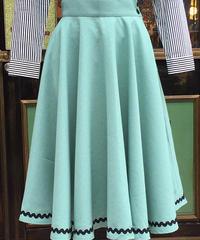 Mountain path Tape  Long Circular Skirt【SVY-SK062】