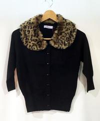 Leopard Collar 3/4 Sleeve Cardigan【CA21065】