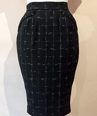 Windowpen Nep Pencil Skirt【SVY-SK051】