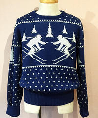 Skiing Pattern Jacquard Sweater【SVY-MKN001】