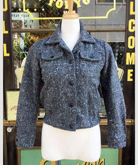 Ladies Wool Nep Hand Stitch Jacket【SVY-LJK027】