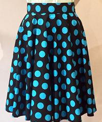 Big Dot Circular Skirt【SVY-SK057B】
